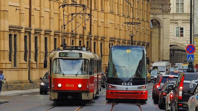 Prágai villamos - Fotó: Pixabay