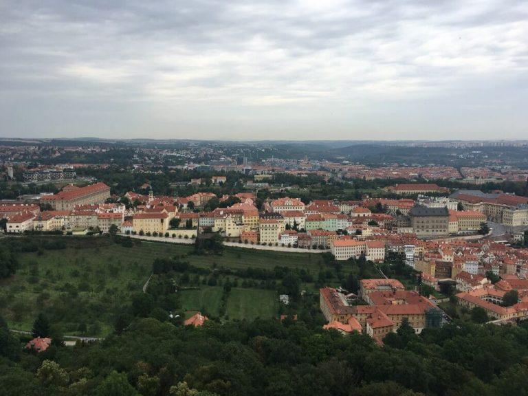 Prága látkép - Petrin torony, Petrin kilátó - Prága