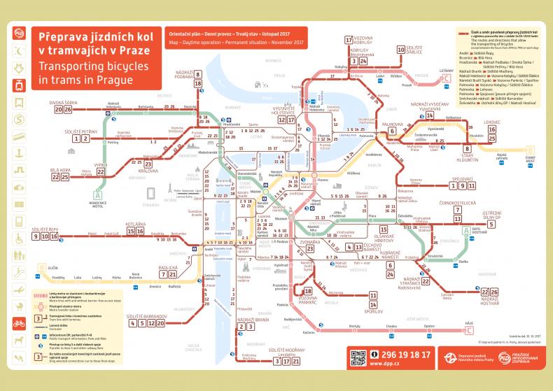 Prága villamos térkép