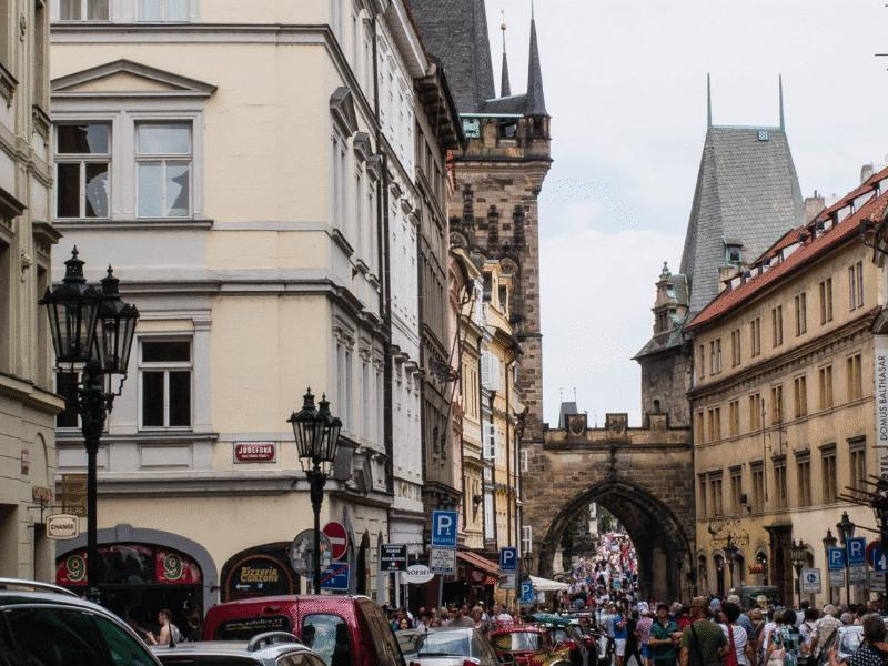 Kisoldali hídtornyok Prága